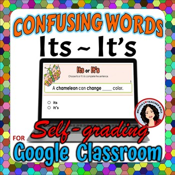 Its, It's Google Classroom Digital File Confusing Words