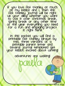 It's Journal Time! {Flat Stanley Style}