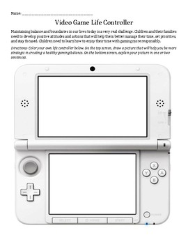 It's Just A Game: Game Controller vs Life Controller worksheet