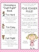 It's Just Right ~ Reader's Workshop Bookmarks