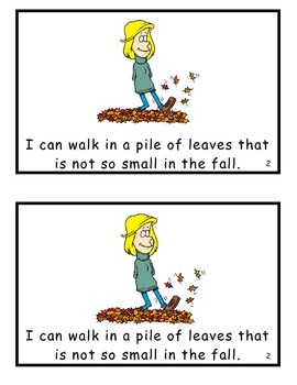 It's Just a Pile of Leaves! Guided Reader for HFW