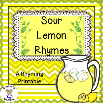 Phonemic Awareness-Rhyming - Sour Lemon Rhymes