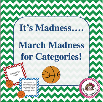 Speech/Language Category Activity - March Madness Style
