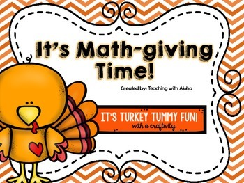It's Math-giving Time with a Turkey Craftivity