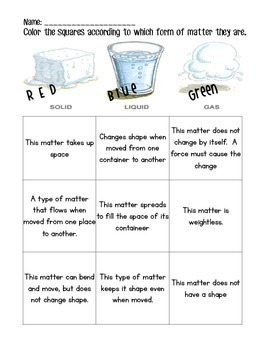 It's Matter – Solid, Liquid, Gas Physical Science Unit