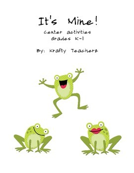 It's Mine- Center Activities based on the book by Leo Lionni