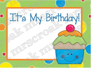 Labels: It's My Birthday Cupcakes, 10 per page