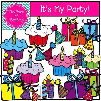 It's My Party Clipart Set