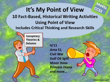It's My Point of View: 10 Fact Based Historical Writing Activities
