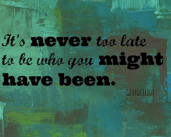 It's Never Too Late George Eliot Quote Printable Poster