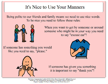 Its Nice to Use Your Manners - Social Story