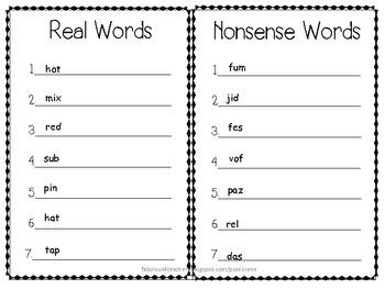 It's No Nonsense--Nonsense Words Are a Picnic