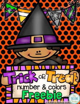 Trick or Treat! Numbers and Colors FREEBIE
