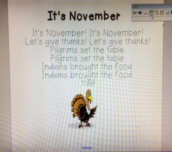 It's November Poem
