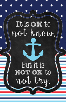 Its OK Poster - Anchor Theme