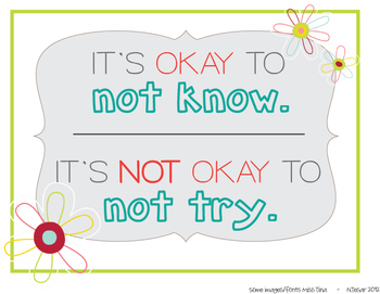 """It's Okay"" Classroom Sign"