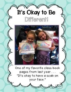 Character Building Activities {It's Okay To Be Different}