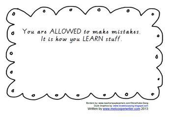 It's Okay To Make Mistakes BOOKLET