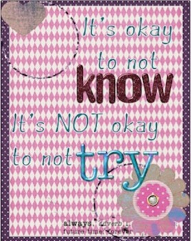 It's Okay to Not Know.... Poster