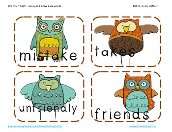 """It's """"Owl"""" Right {because I know base words!}"""