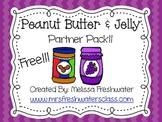 It's PBJ Time!! Peanut Butter & Jelly Classroom Partner Pack