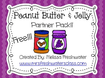 It's PBJ Time!! Peanut Butter & Jelly Classroom Partner Pack