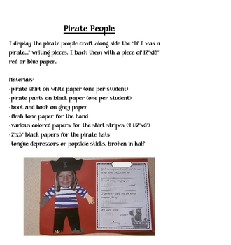 It's Pirate Day! Math and LIteracy Activities for a Day of Pirate Fun
