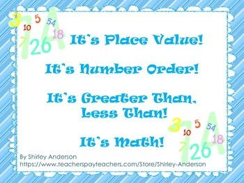 It's Place Value! It's Number Sense! It's Greater Than, Less Than! It's Math!