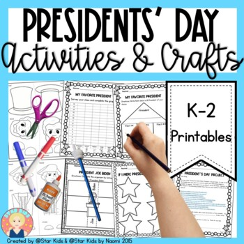 PRESIDENTS DAY ACTIVITIES for Kindergarten and First Grade