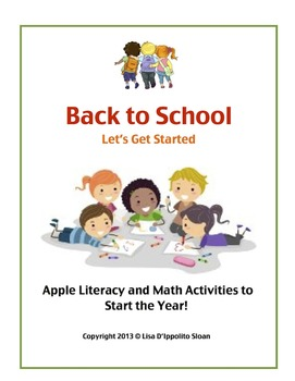 Back To School Apple Literacy and Math Activities to Start the Year