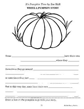 It's Pumpkin Time Literature Guide