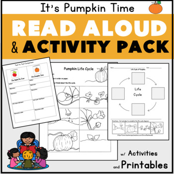 It's Pumpkin Time Read Aloud  Plans w Author Study Life Cycle Sequencing Z. Hall