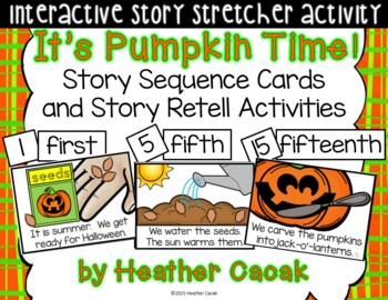 It's Pumpkin Time! Sequence and Retelling Cards (Math and Literacy)