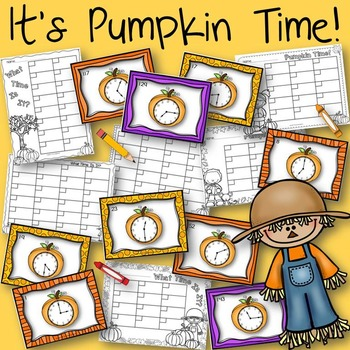 It's Pumpkin Time Halloween Task Cards for Telling Time Ga