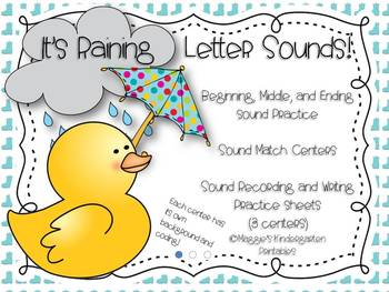 It's Raining Sounds! (beginning, middle and ending sound identification)