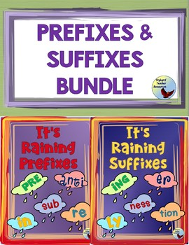 Prefix & Suffix Graphic Organizer Bundle Great for Gen ED ESL SPED