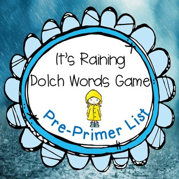 It's Raining Dolch Words Game Pre-primer Set