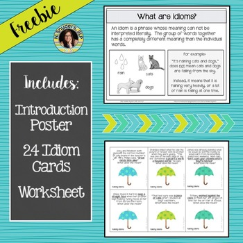 Its Raining Idioms A Figurative Language Activity By Natalie Snyders