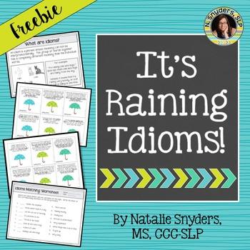 It's Raining Idioms - A Figurative Language Activity