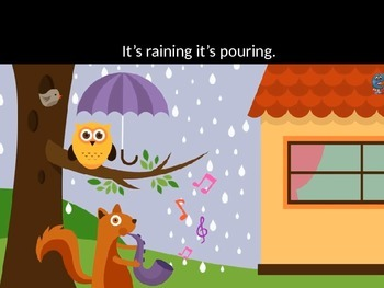 It's Raining , It's Pouring Reading PPT