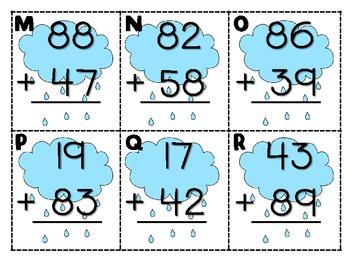 It's Raining Math! {Centers}