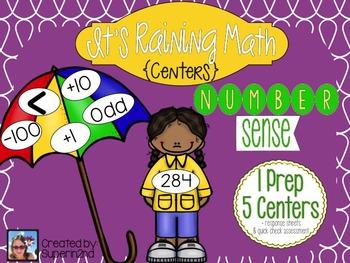 It's Raining Math {Centers} Number Sense