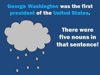 It's Raining Nouns - PowerPoint Game