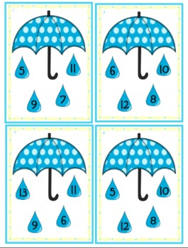It's Raining Numbers! An Ordering Numbers Activity (smallest to largest)