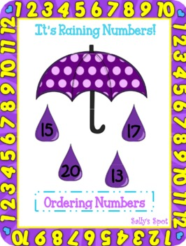 It's Raining Numbers! An Ordering Numbers Activity (smalle