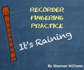 It's Raining - Recorder Fingering Practice