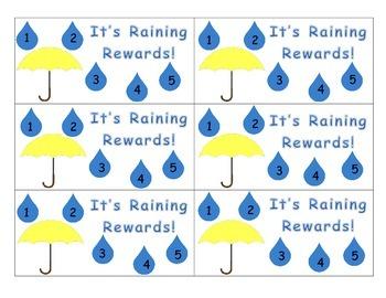 It's Raining Rewards Punch Cards