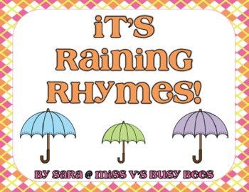 It's Raining Rhymes! A Sorting Activity