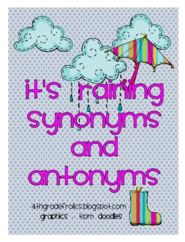 Synonyms and antonyms middle school teaching resources teachers its raining synonyms and antonyms its raining synonyms and antonyms m4hsunfo