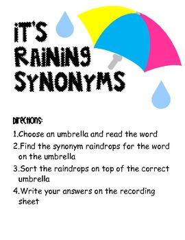 It's Raining Synonyms...Grab an Umbrella!